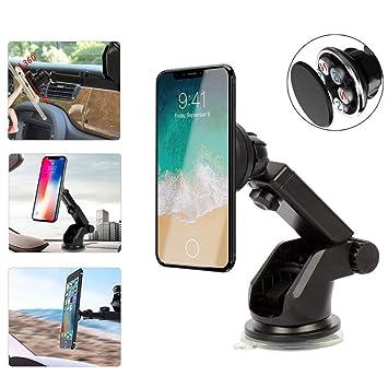 Soporte Auto, magnética soporte de coche, ventosa parabrisas/salpicadero, rotación de 360
