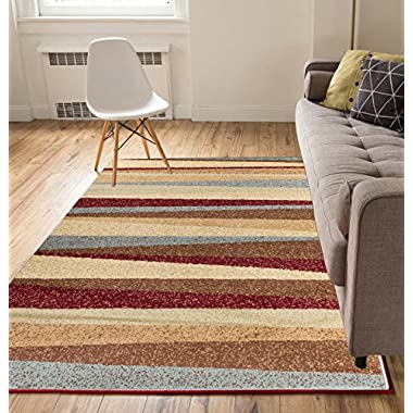 Mesa Vista Multi 5x7 ( 5' x 7' ) Modern Geometric Southwestern Casual Thin Value Area Rug Perfect for Living Room Dining Room Family Room