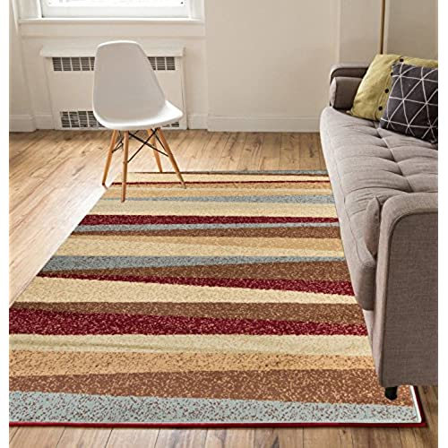 Mesa Vista Multi 5x7 5 X 7 Modern Geometric Southwestern Casual Thin Value Area Rug Perfect For Living Room Dining Family