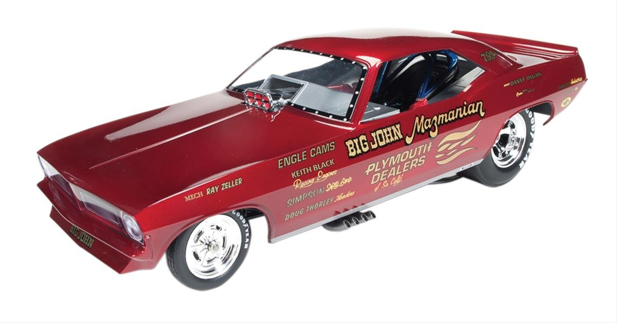 Big John Mazmanian 1972 Plymouth Cuda Funny Car Limited Edition to 750pcs 1/18 by Autoworld AW1166