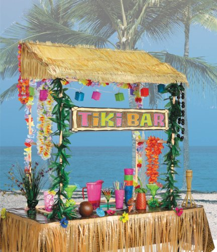 Amscan Tiki Party Bar Hut Set, 55 x 56 x 22