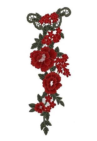 Cdet Pegatinas de Tela Tridimensional Flores de peonía Hilado Bordado Parche calcomanías Accesorios de Vestir Coser Flores Collar,Estilo 2: Amazon.es: Hogar