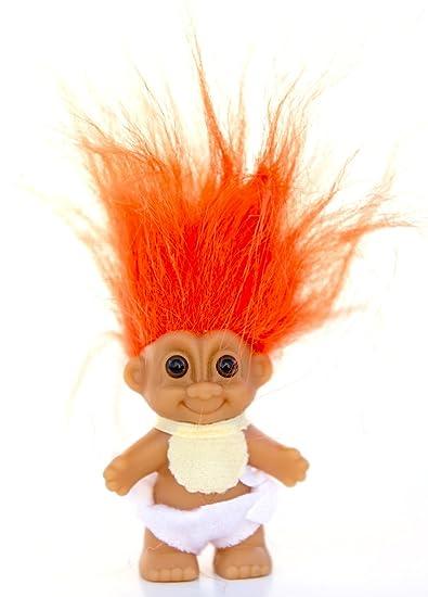 Puppen & Zubehör Orange Hair My Lucky Troll From Germany
