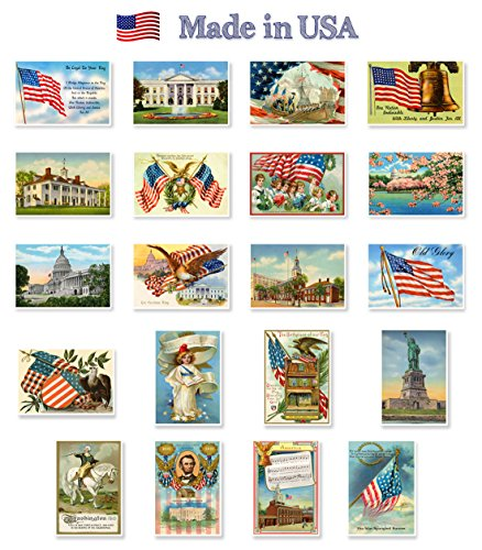 b57b0060b4c PATRIOTIC AMERICAN theme postcard set of 20 identical postcards. United  States of America vintage flag