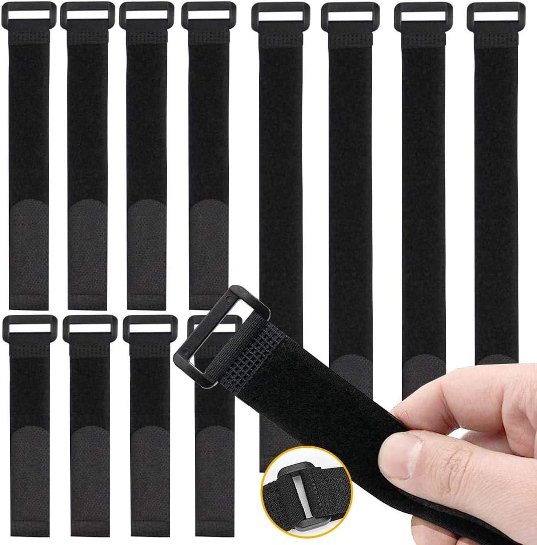 O Kinee 30 Stück Klettverschluss Kabelbinder Klettverschluss Kabel Klettband Kabelklett Kabelbinder Klettbinder Klettverschluss Büro Baumarkt