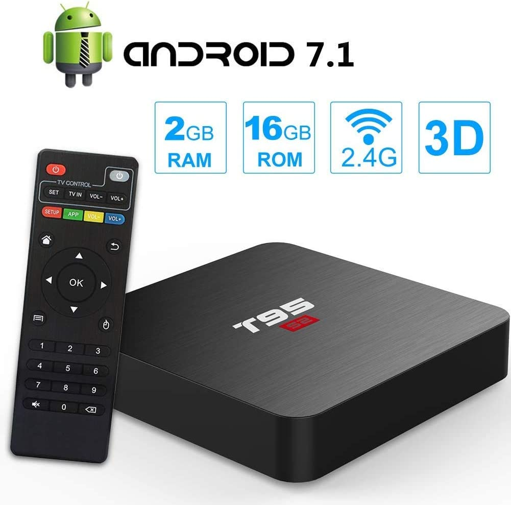 DOOK Android 7.1 TV Box T95S2 Set Top Box 2GB RAM 16GB ROM RK3318 Quad-Core CPU Ethernet 2.4G WiFi USB 2.0 Support 4K H.265 Internet Media Player: Amazon.es: Deportes y aire libre