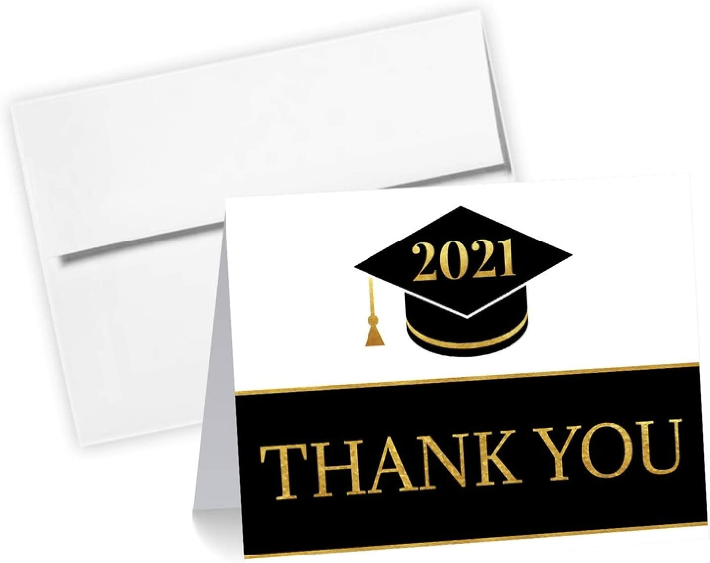 High School Graduation Cards Class of 2019 College GRADUATION CAPS Personalized Graduation Thank You Cards Set with Envelopes