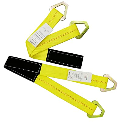 "RELIABLESLING Premium Axle Straps with D-Ring 2-Pack of 2, 36"",10,000 Pound Capacity: Automotive"