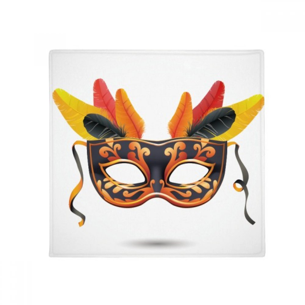 DIYthinker Feather Mask Happy Carnival of Venice Anti-Slip Floor Pet Mat Square Home Kitchen Door 80Cm Gift