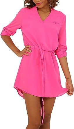 Clarisbelle Women Summer V Neck Ruffle Sleeve Flowy Dress