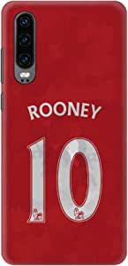 Stylizedd Huawei P30 Slim Snap Basic Case Cover Matte Finish - Rooney Jersey