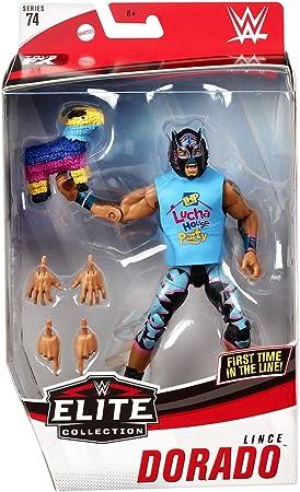 Ringside Lince Dorado (Negro, Azul y Rosa) – WWE Elite 74 Mattel Toy Wrestling Figura de acción: Amazon.es: Juguetes y juegos
