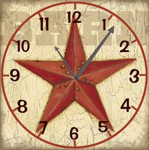 Red Southern Star Cork Memo board Wall Clock