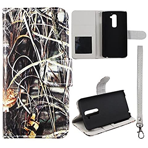 Camo Hay Flip Wallet Leather ID Pouch LG G2 D802 , AT&T T-Mobile, Sprint Case Cover Phone Snap on Cover Case (Att Lg G2 Phone)