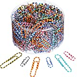 Shappy Paper Clips Medium and Jumbo Size, 450 Pieces (28 mm, 50 mm) (Colorful Striped)
