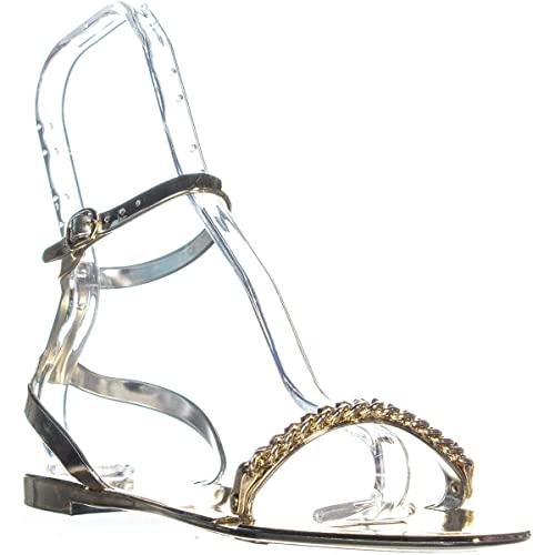 7bc75e4d509 DKNY Moana Ankle Strap Flat Sandals, Gold: Amazon.ca: Shoes & Handbags