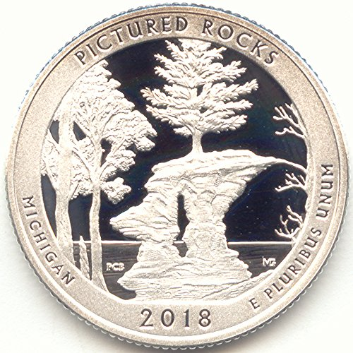 2018 S America the Beautiful Pictured Rocks National Lakeshore in Michigan Silver Washington Quarter Proof