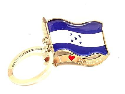 Amazon.com: I Love diseño de bandera de Honduras Llavero ...