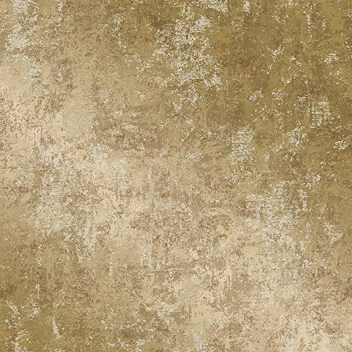 Tempaper Distressed Gold Leaf Removable Peel and Stick Wallpaper, - Gold Leaf Accents