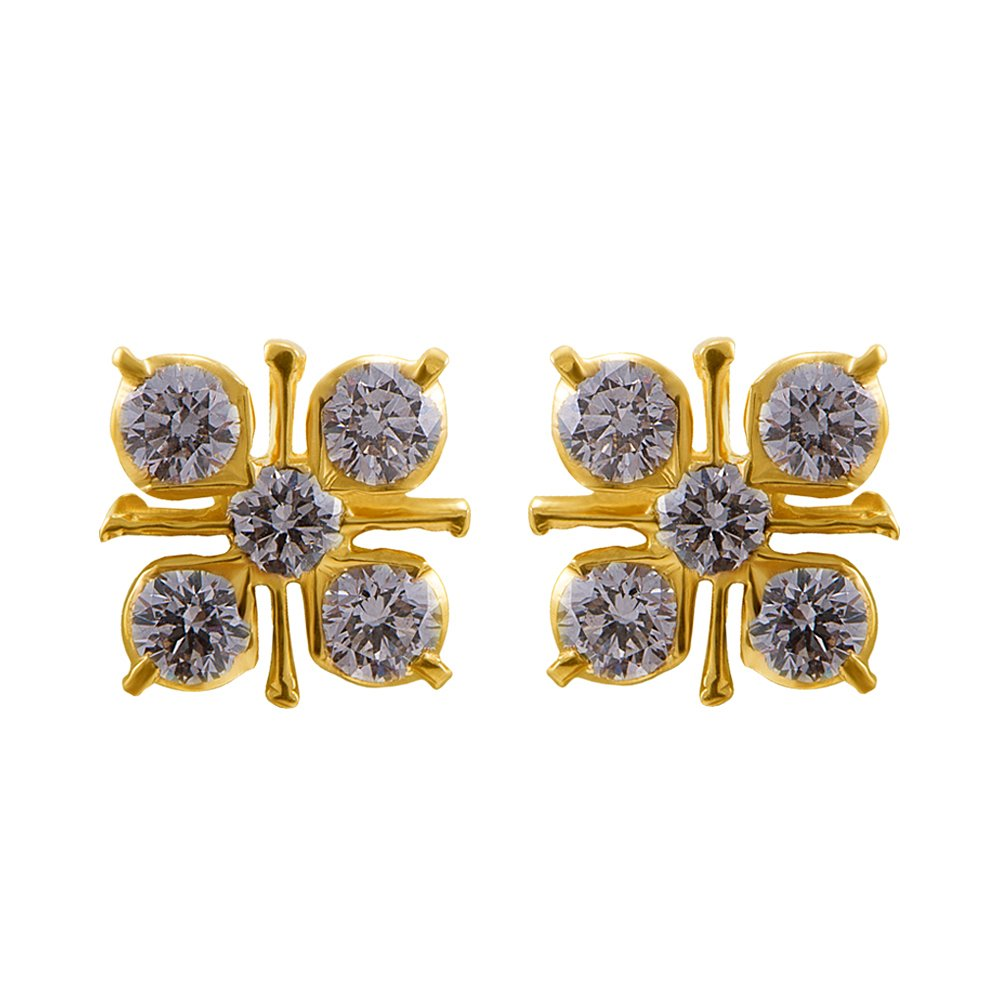 5b9593910 Buy Joyalukkas 22k Yellow Gold and Diamond Stud Earrings Online at Low  Prices in India | Amazon Jewellery Store - Amazon.in