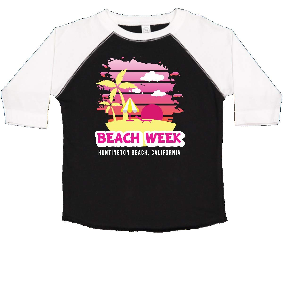 inktastic Beach Week Huntington Beach California with Palm Trees Toddler T-Shirt