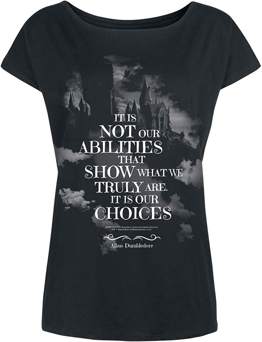 Largo HARRY POTTER Choices Donna T-Shirt Nero