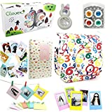 CLOVER 7 in 1 Accessory Bundles Set For Fujifilm Instax Mini 8 Instant Camera (Numbers Case Bag/ Album/ Colorful Filter/ Rabbit Close-Up Lens / Wall Hanging Frame/ Photo Frame/ Sticker Borders)