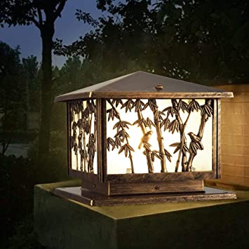 Hines Luz de la Puerta del Chalet de la Linterna de Cristal del Chino al Aire Libre de China Lámpara de la Columna de la luz de la Mesa del Fuego de
