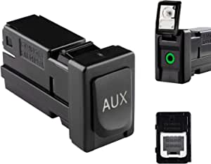 RLP 86190-02010 Aux Jack Port fit Tacoma Corolla Tundra Aux Port Auxiliary Input Jack Stereo Adapter Assembly, 86190 02010