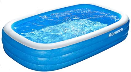Small Inflatable Pool Outdoor Backyard Swimming Pools For Kids Family Water Play