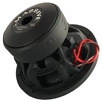 Car Subwoofer by Massive Audio TOROX104 - Subwoofer Woofer with Amazing Sound for Truck, Cars