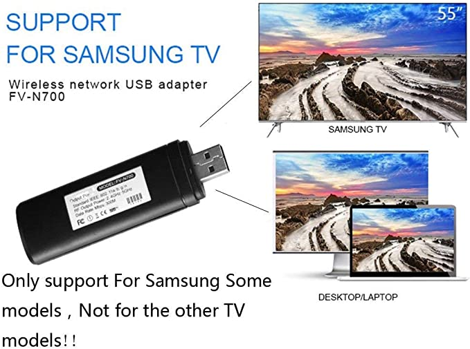 Velidy - Adaptador inalámbrico para TV (USB, WiFi, 802.11ac, 2,4 ...