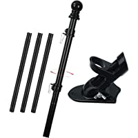 """INFLATION Flag Pole Kit, 5FT Flag Pole for House, 1"""" Outdoor Tangle Free American Flag Pole with Bracket for Outside…"""