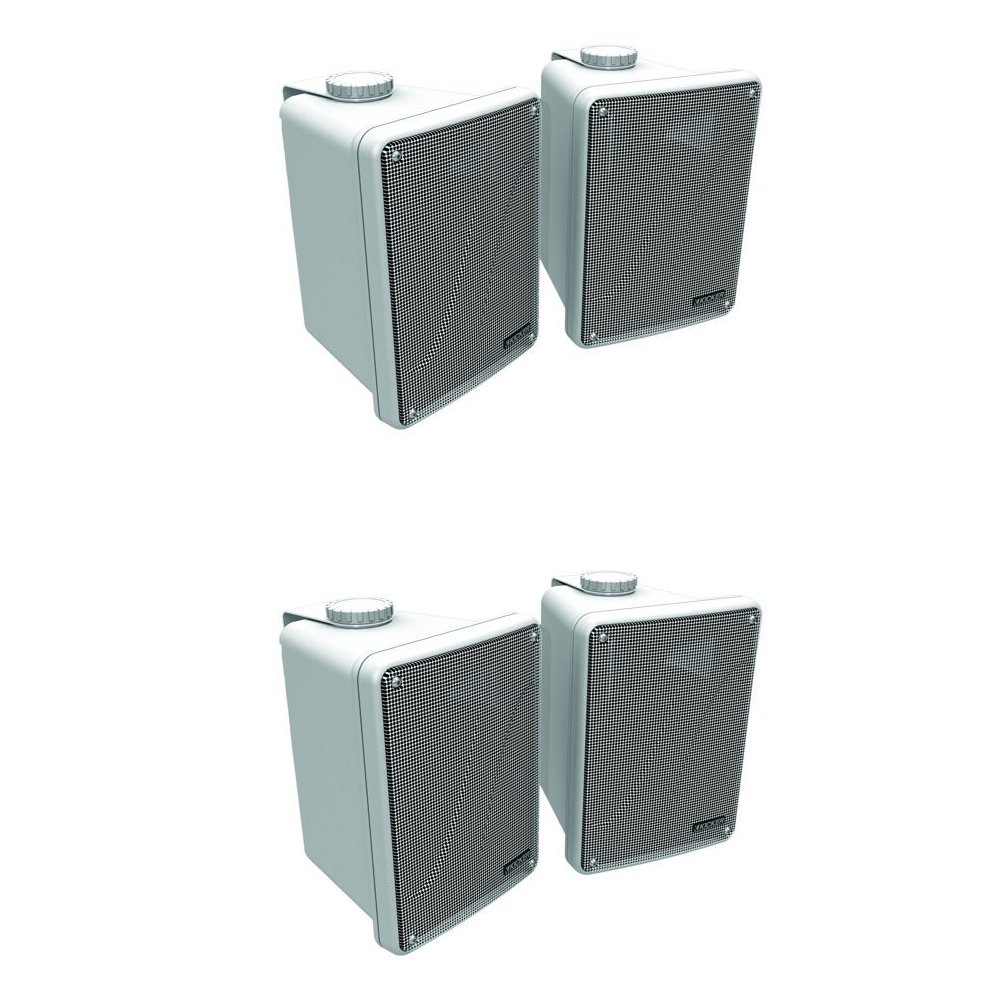 4) KICKER KB6000 6.5'' White Full-Range Indoor/Outdoor/Marine Speakers 11KB6000W