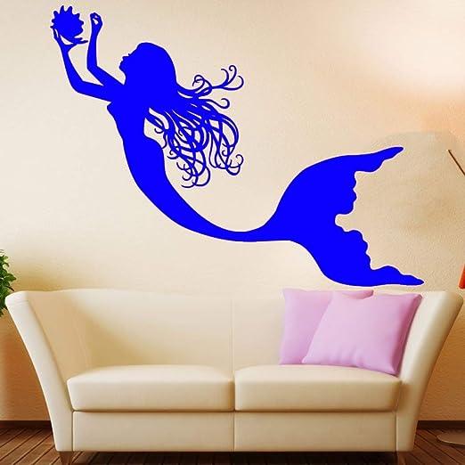 jiushizq Under The Sea Mermaid Girl Nursery Room Tatuajes de Pared ...