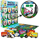 Lil ADVENTS Potty Time ADVENTures Potty Training Set - Chart, Activity Board, Reward Badge, Stickers, and Block Toys for Toilet Training - Busy Vehicles