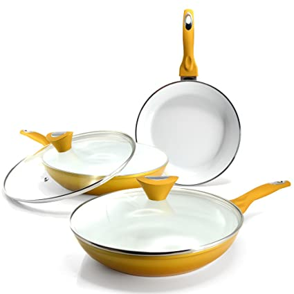 Durandal Sartén cerámica Gold – Juego de 5 Piezas