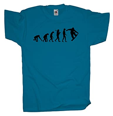 Ma2ca - Evolution - Snowboarder T-Shirt-azure-s