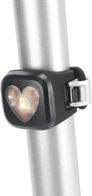 Knog - Luz LED roja para Bicicleta, diseño de corazón
