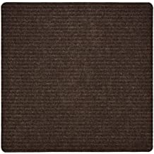 Stair Treads Collection Indoor Skid Slip Resistant Carpet Stair Tread Mat (Brown, Matching Mat 30 in X 30 in)