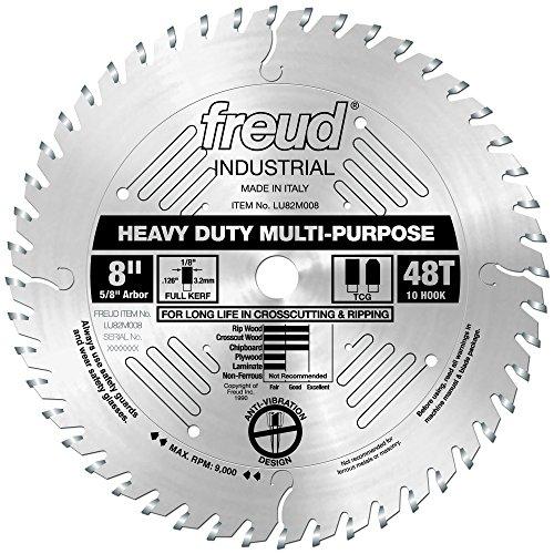 "Freud 8"" x 48T Heavy Duty Multi-Purpose Blade (LU82M008)"