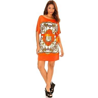2a32d00025f Miss Wear Line - Robe Tunique Corail à Motifs Hermes  Amazon.fr ...