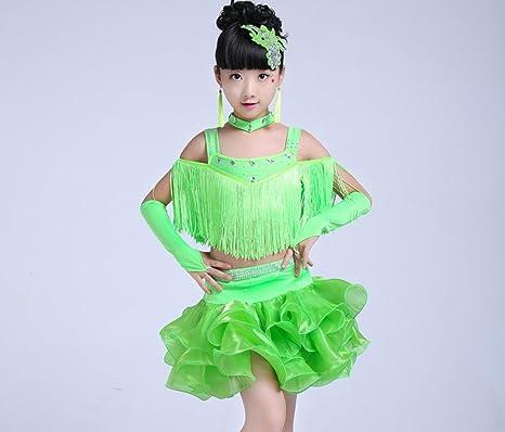 Disfraz Latino Niña Danza Latina Disfraz de Borla de Baile Traje ...