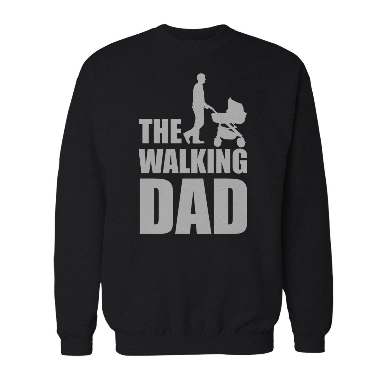 Fashionalarm Herren Sweatshirt - The Walking Dad   Fun Pullover als Geburt Geschenk für Zombie Fans