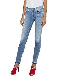 REPLAY Luz Hyperflex Jeans Ajustados para Mujer: Amazon.es