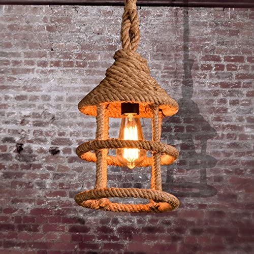 Maso Home MS-89381 Hemp Rope Pendant Light