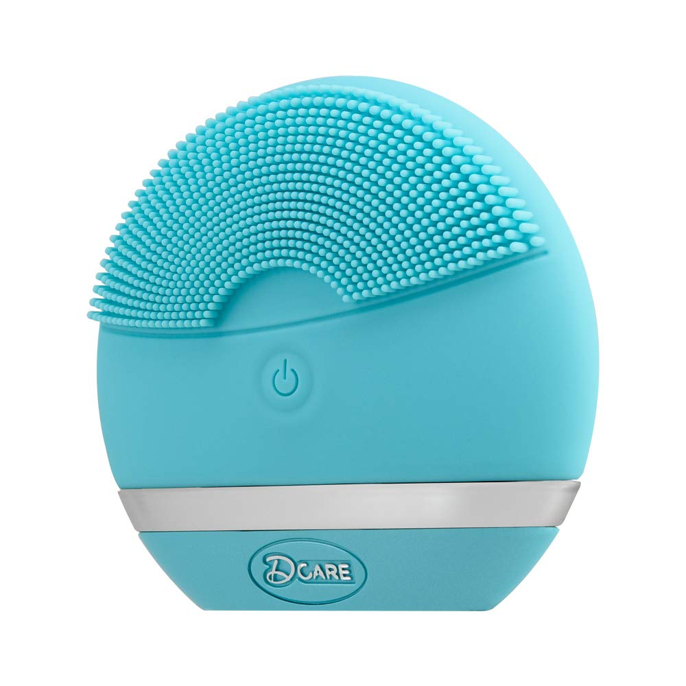 Silicone Sonic Facial Cleansing Brush-Electric Waterproof Massager and Exfoliator For All Skin Types(Blue)
