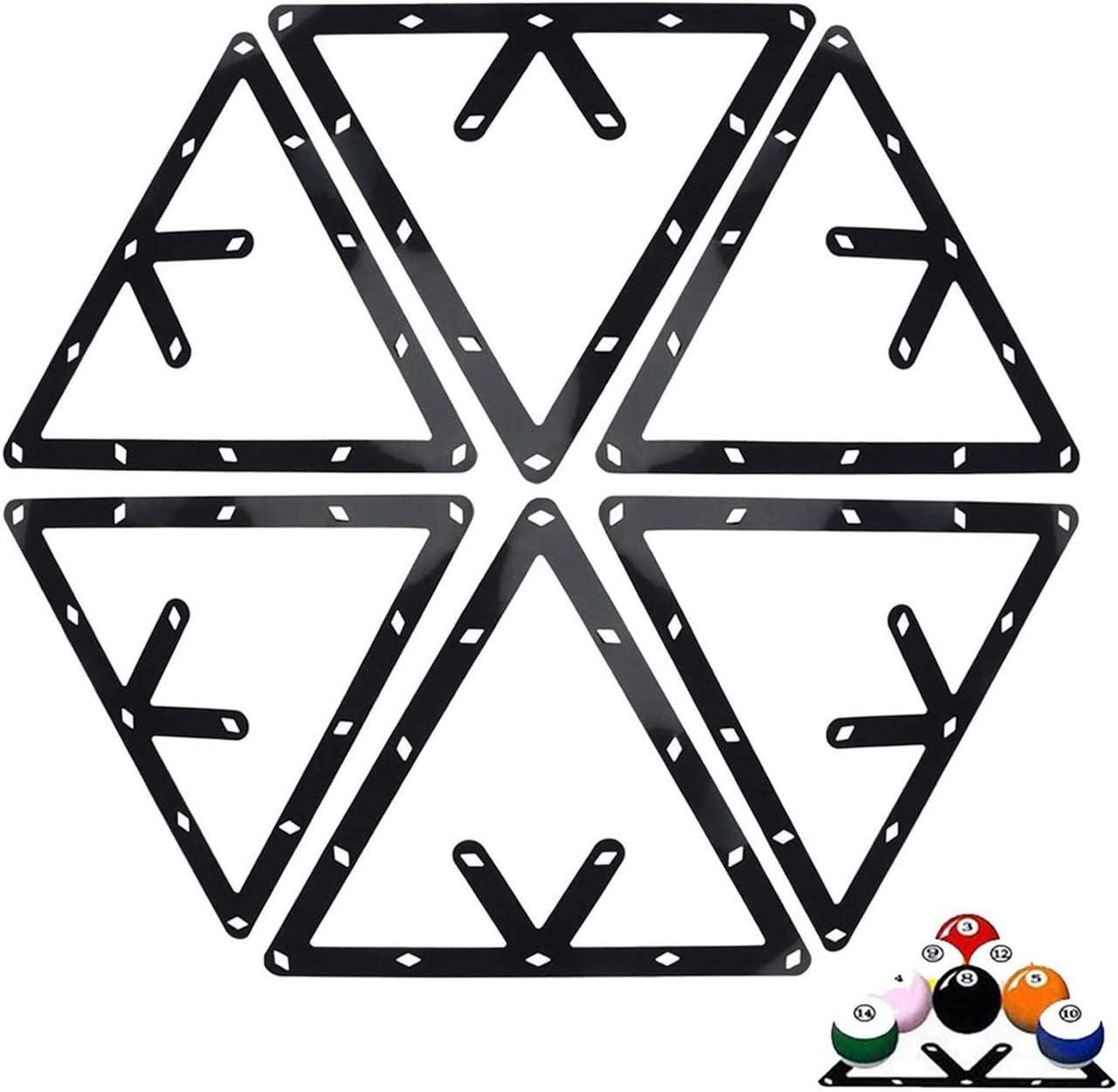 Ajcoflt 6 PCS Ball Rack Billar Rack Sheet Cue Ball Rack Cue Ball Accesorio