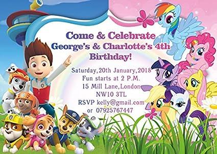 10 invitaciones de cumpleaños o tarjetas de agradecimiento ...