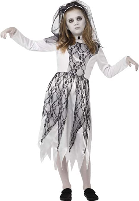costumebakery – Niña Infantil Disfraz Horror Fantasma Novia ...
